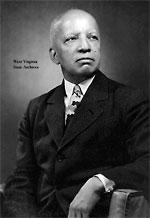 Dr. Carter G. Woodson   Portrait   B&W Photo