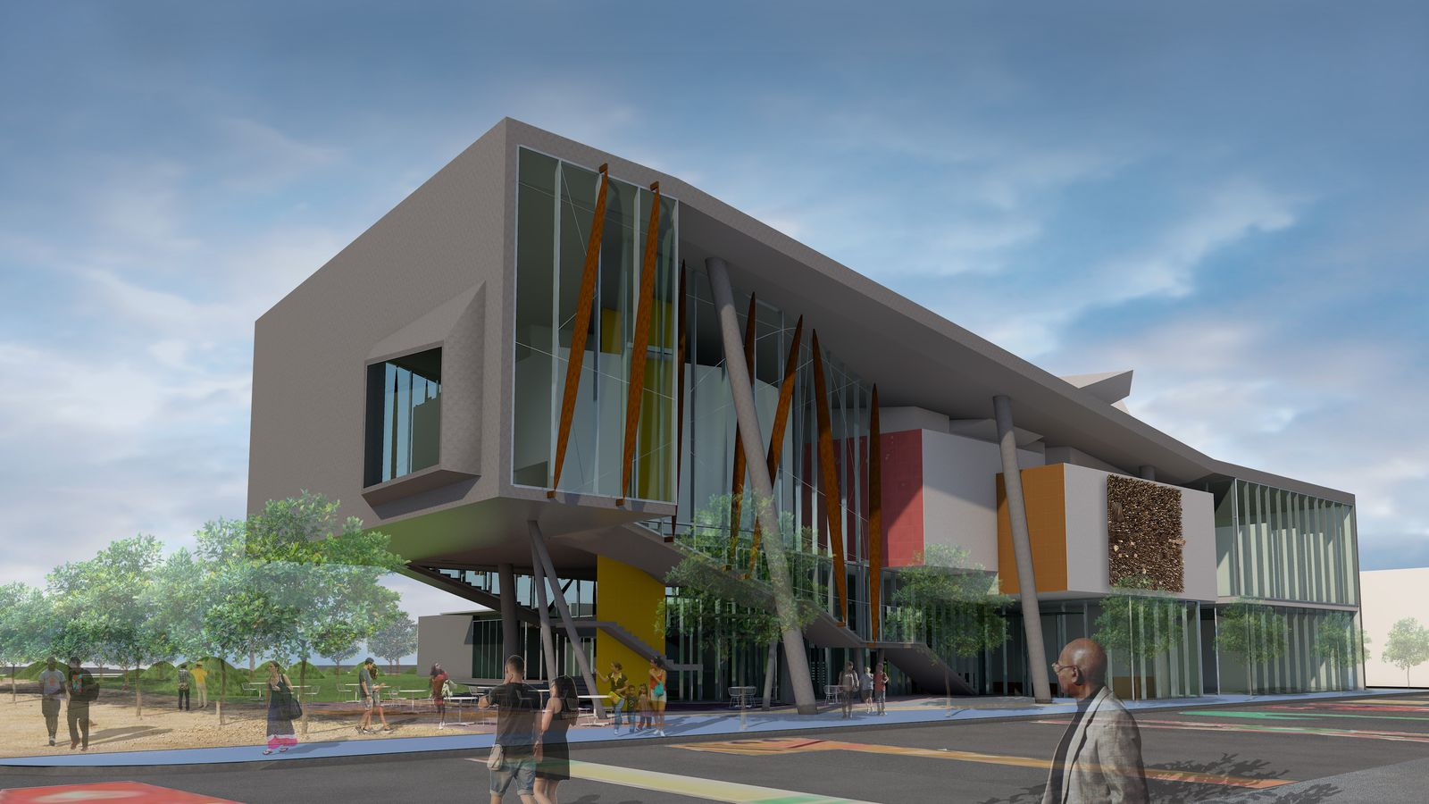 Concept illustration of proposed new museum.
